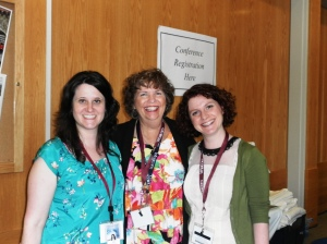 Conference organizer Shandeen Gemanis, former Conference Chairperson Linda Howson, and Conference Chairperson Anna Wolff