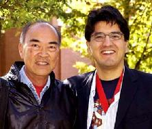 Alex Kuo with former pupil Sherman Alexie