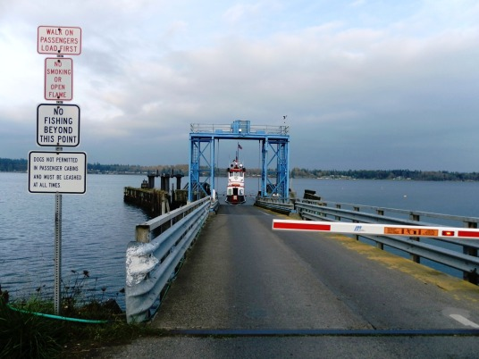 Lummi Island Side Ferry Entryway