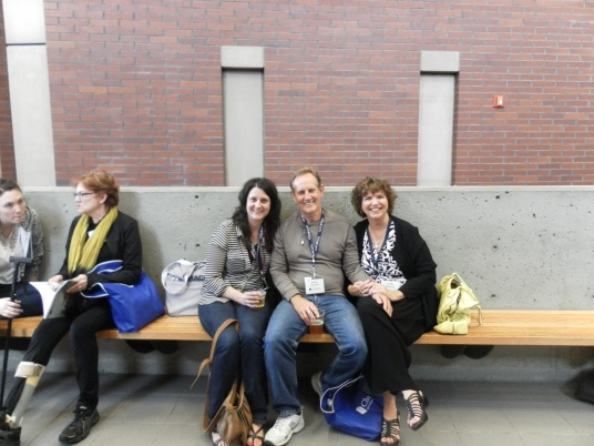 Repeat conference goers all know some of the original team who started this conference. Shandeen Gemanis, Denny Howson, and Linda Howson (the inaugural chair of the conference) spread some smiles around.