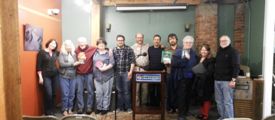 Many of tonight's authors read from their published collections. How cool is that?